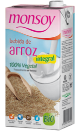 monsoy bebida de arroz integral 100% vegetal